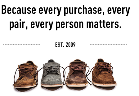 Because every purchase, every pair, every person matters.